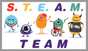 STEAM Team Logo with Monsters